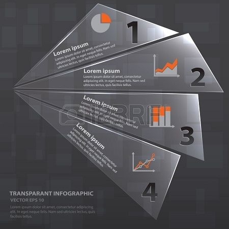 Infographic with transparent styles, vector illustration used for presentation background and part of infographic elements