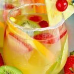 If you are looking for an easy white wine sangria, make this Tropical Margarita Sangria!