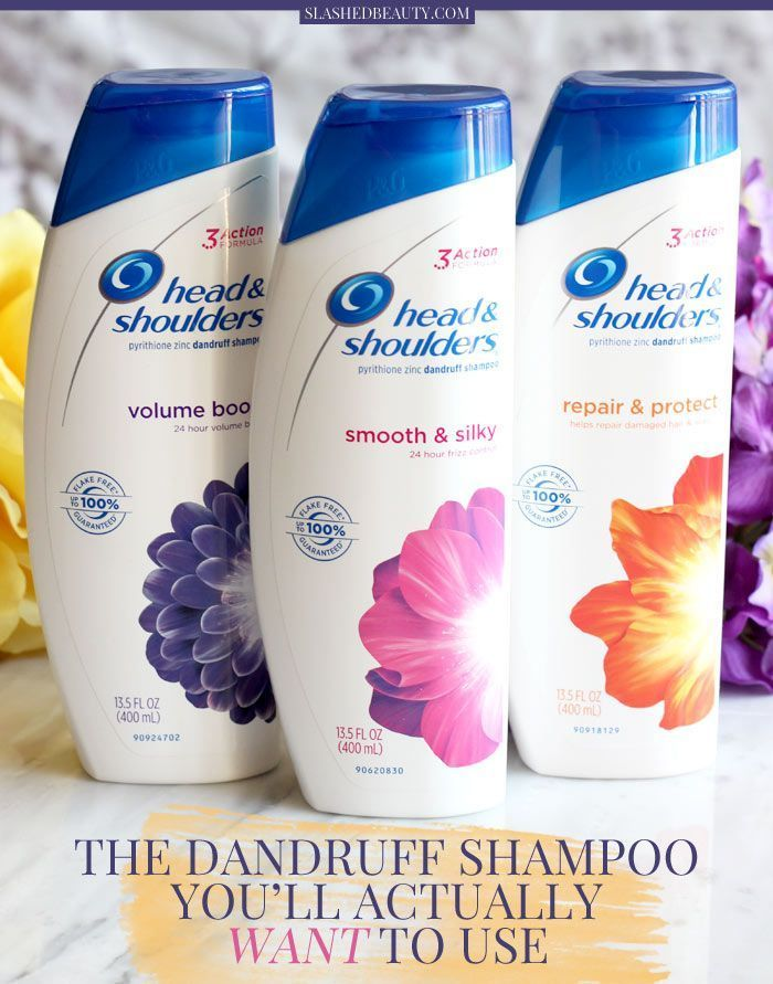 You don't need to compromise beautiful hair when you need to treat dandruff. My new favorite daily dandruff shampoo goes to Head & Shoulders Tri-Action Formula, which cleans, protects and moisturizes while treating flakes. See a before/after! | Slashed Beauty #TargetBeauty #ad