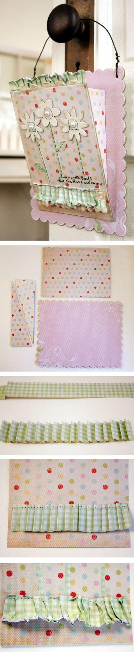 Mafy`s projectDiy Hanging, Ruffles Paper, Paper Ruffles, Ruffles Tutorials, Handmade Diy, Hanging Baskets