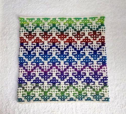 Ravelry: Mosaic Pillow #2 pattern by Suzanne Bryan