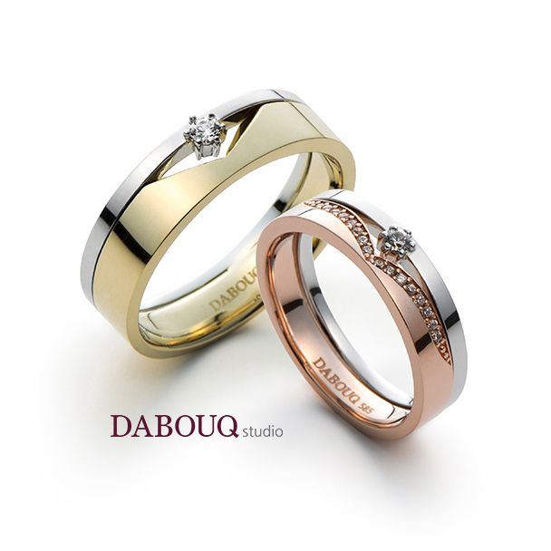 couple wedding rings dabouq studio ring dr0003 coola designs 3138