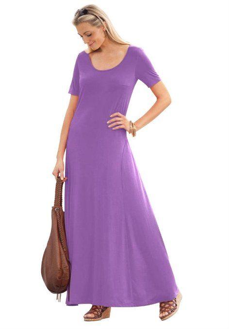 Amazon.com: Jessica London Women's Plus Size Tee Shirt Maxi Dress: Clothing