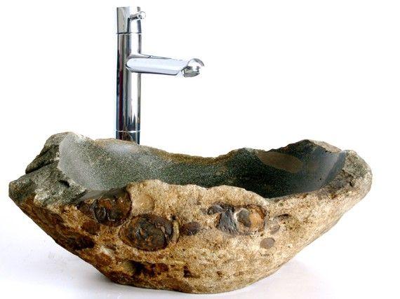 1000+ ideas about stone sink on pinterest | concrete bathroom