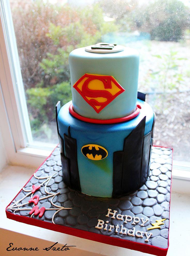 25 best Super Hero Cake images on Pinterest Anniversary cakes