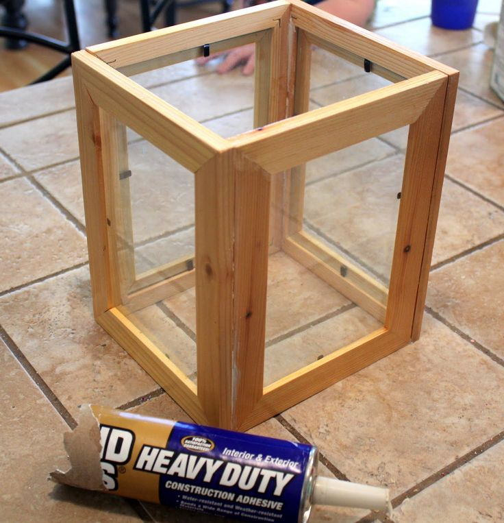 Lantern from Picture Frames.  Craft Goodies: Wood You Like to Craft? with Candace of Crafty Sisters!!!