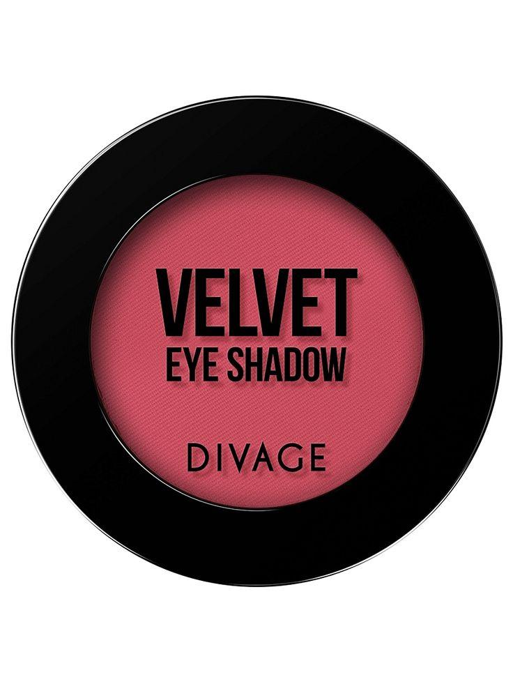 """Матовые одноцветные тени для век """"VELVET"""" тон 7315 DIVAGE. Цвет розовый."""