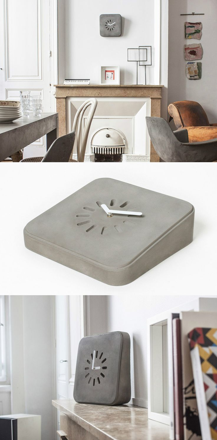 One Chic Concrete Clock! Read Full Story at Yanko Design