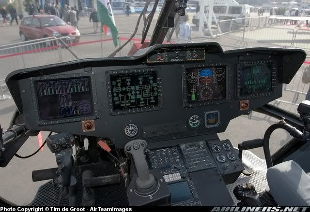 Indian Helicopter HAL Dhruv Cockpit