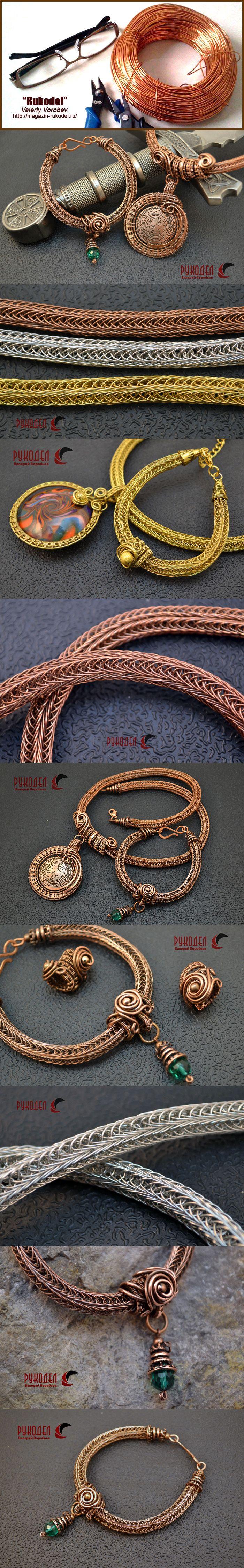 плетение браслетов из цветной проволоки схемы