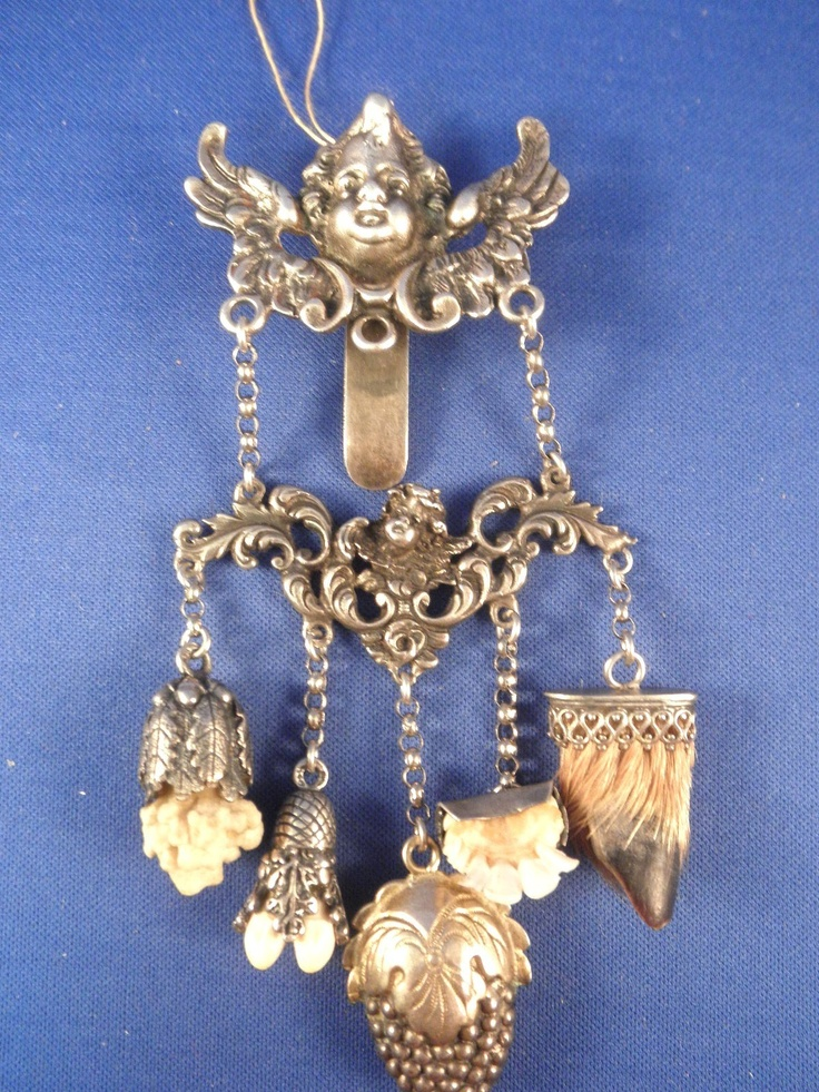Antique Sterling & 800 Silver Chatelaine Keeper of The Keys German English Influ | eBay