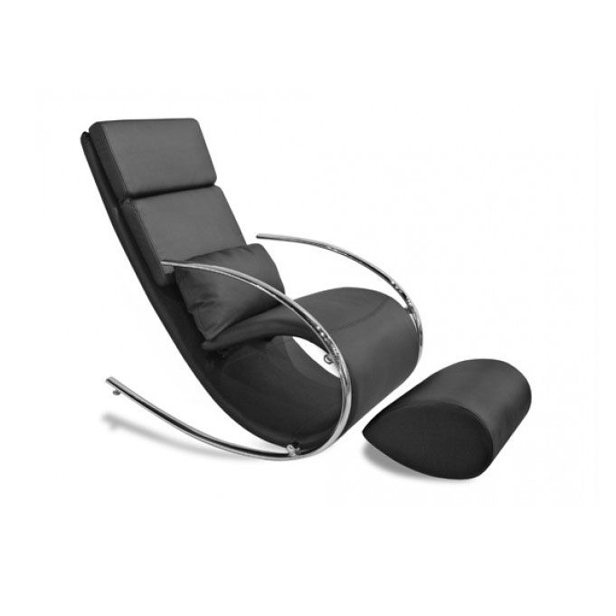 chloe upholstered rocker chair and ottoman the chloe upholstered rocker chair and ottoman proves ultra modern furniture can be comfortable