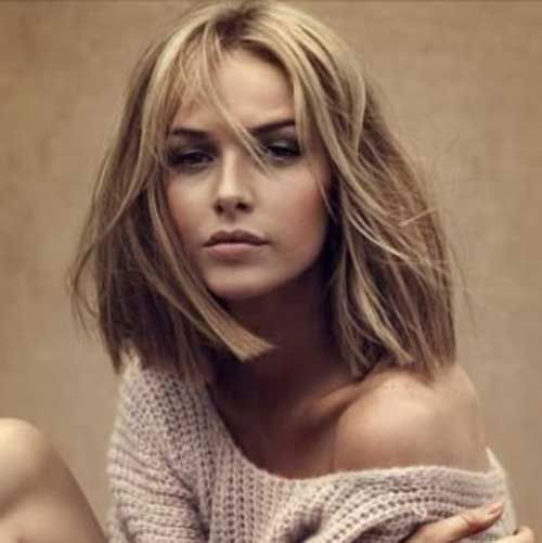Short Shoulder Length Blunt Bob Hair