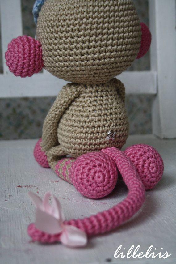 PATTERN Monkey girl crochet amigurumi toy by lilleliis on Etsy