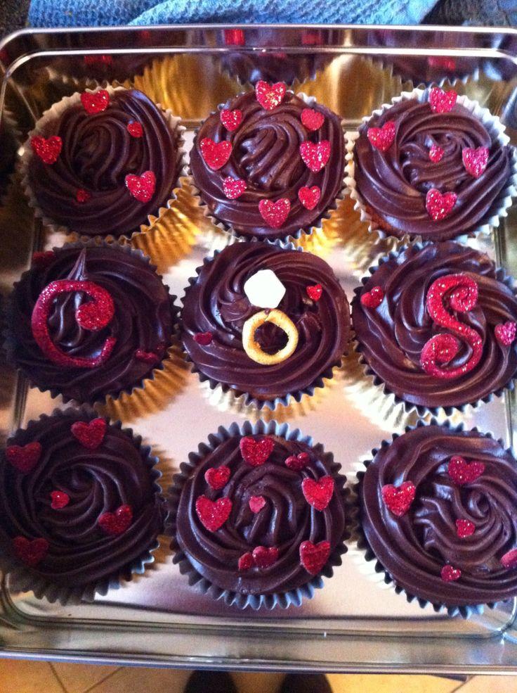 Engagement cupcakes - orange chocolate