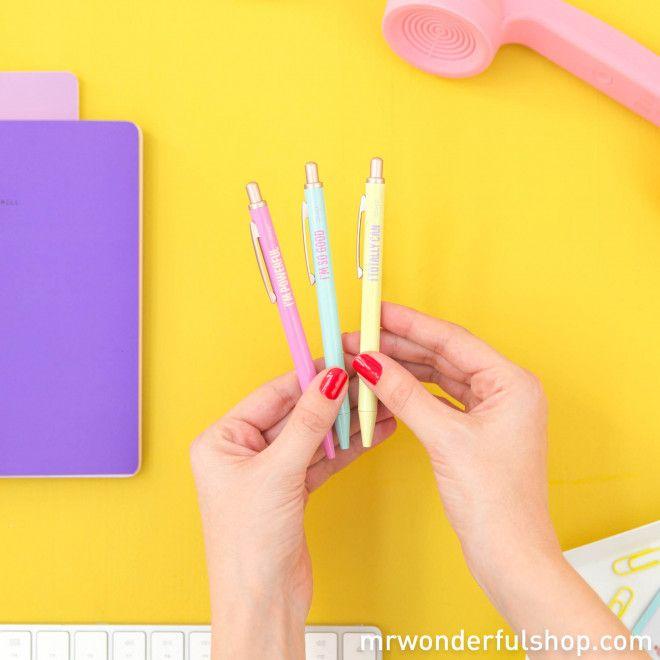 847cbaa51 Set de 3 bolis - The Powerful Collection #mrwonderfulshop #pens #stationery  #powerful