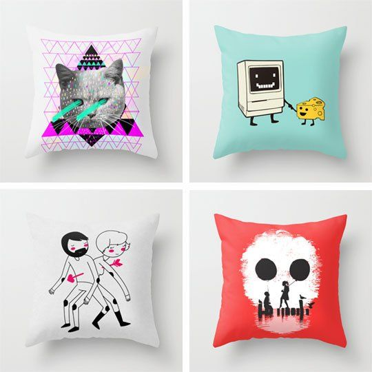 Art Pillows:   Fun Art for Your Everyday. I want them all.