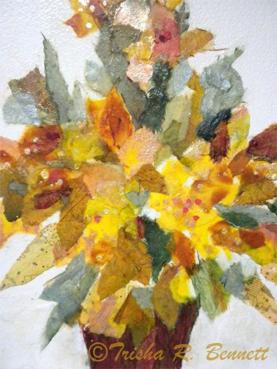 This Is An Original Tissue Collage Called Fall Fiesta It Is An