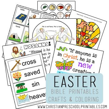 Free Easter Printables, Notebooking Pages, Copywork, Lapbooks, and More