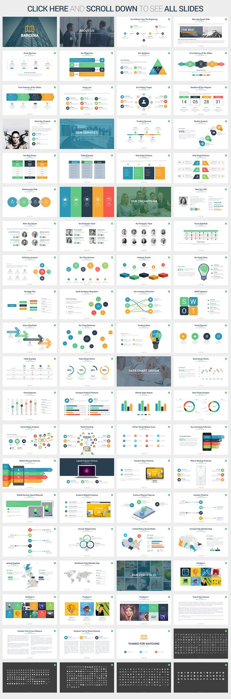 Barcena - Powerpoint Template by SlidePro on Creative Market
