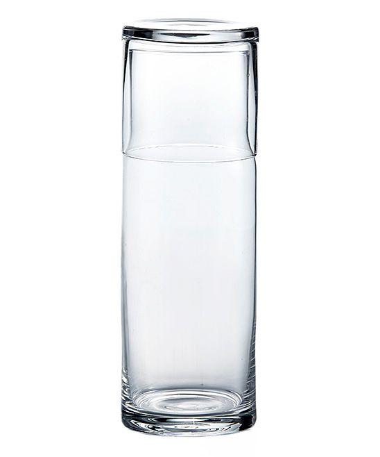 Large Water Bottle & Glass Set