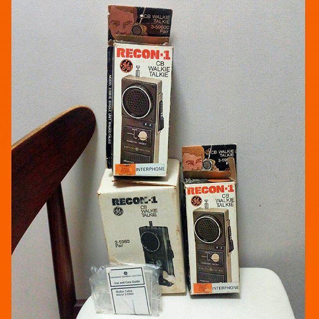 #70s #generalelectric Recon-1 #walkietalkie set with original boxes and instructions. $20. #1970s #walkietalkies #radio #analog #retro #recon #paintball #throwback #cb  #prop #securityforces #fun #toy #vintagetoys #niagarafleamarket #stcatharinesi
