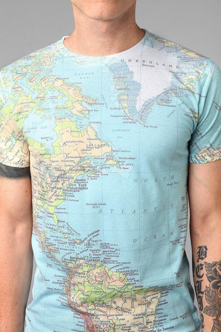 Altru Around The World map t-shirt
