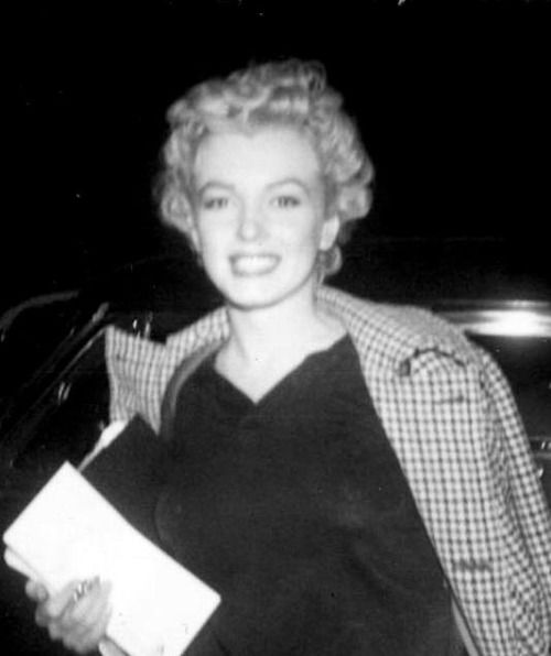"""""""A rare photograph of Marilyn Monroe taken in the early 1950′s. """""""