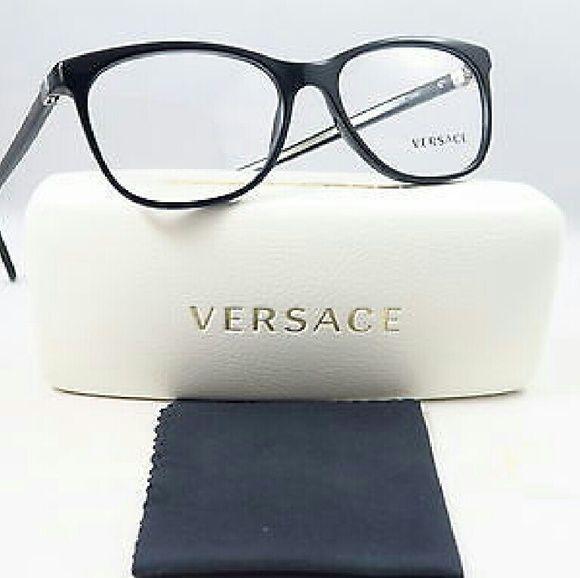 Versace Eyeglasses Versace Eyeglasses New and Authentic Black frame 53mm Includes original case Versace Accessories Glasses