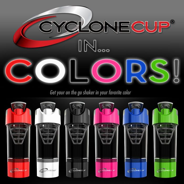 Ordered mine in Pink and Black!! Cyclone Cup Protein Shaker Cup Blender Mixer Bottle NEW! #CycloneCup