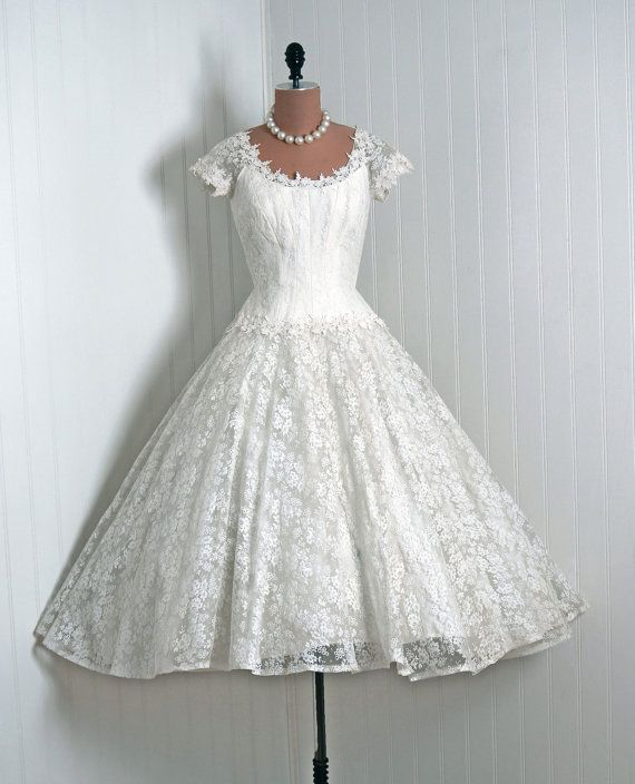 E is fo Elegant, Priscilla of Boston 1950's Wedding Dress