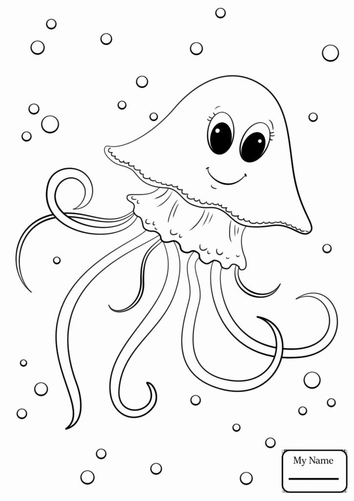 Jelly Fish Coloring Page Awesome Cartoon Jellyfish Coloring Pages In 2020 Fish Coloring Page Animal Coloring Pages Shark Coloring Pages