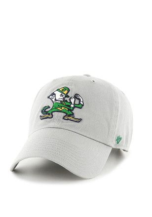 '47 Notre Dame Fighting Irish Mens Grey Clean Up Adjustable Hat