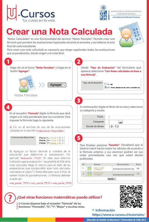 Crear Nota Calculada. Para ver el folleto en versión web visite http://www.dgi.uchile.cl/docs/fb/guias/u_cursos_crear_nota_calculada/