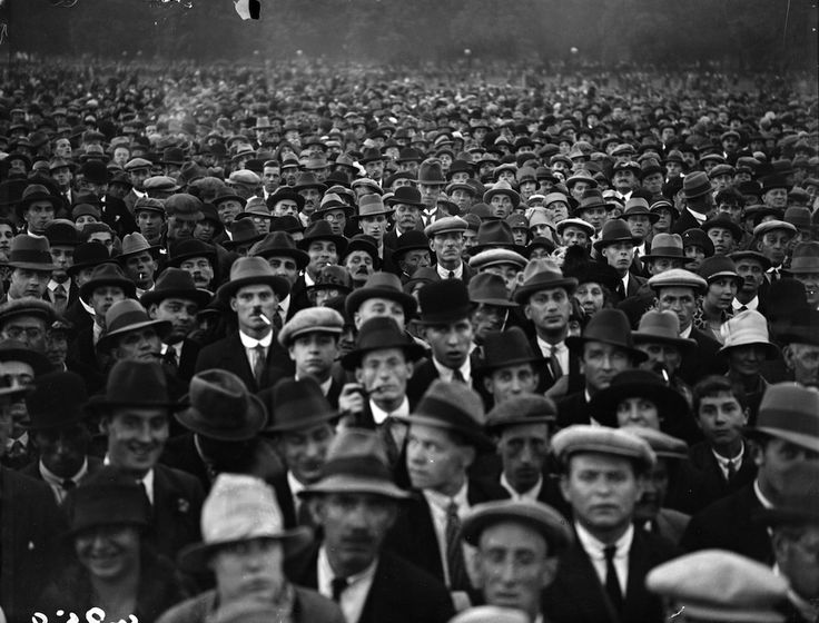 ugust 1927: A crowd at the demonstration in Hyde Park with regard to the Sacco and Vanzetti affair. Sacco and Vanzetti were arrested for a post office robbery and murder in Massachusetts, USA and their conviction carried implications of political bias because of their communist sympathies. (Photo by Fox Photos/Getty Images)