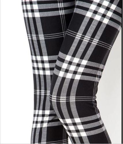 9c1987a32bf641 EXTRA PLUS SIZE 16-24 BLACK WHITE PLAID BUTTERY SOFT LEGGINGS NWT #NEWMIX