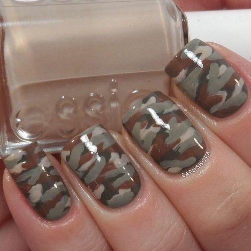 camo nail designs diy