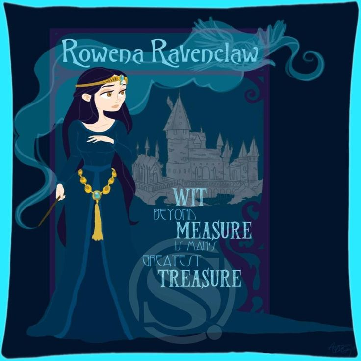 HOT!Nice Custom Pillow Case Ravenclaw Pillowcases zipper 35x35 cm (One side) QW-R0198