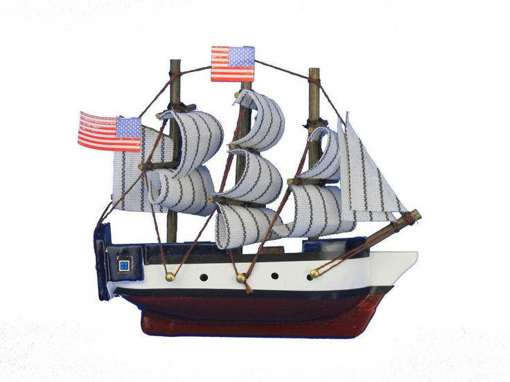 "Inspired by the USS Constitution the oldest and most famous ship in the U.S. Navy still sailing today, this adorable tall ship model magnet of ?Old Ironsides"" rests easily upon any refrigerator or mag"