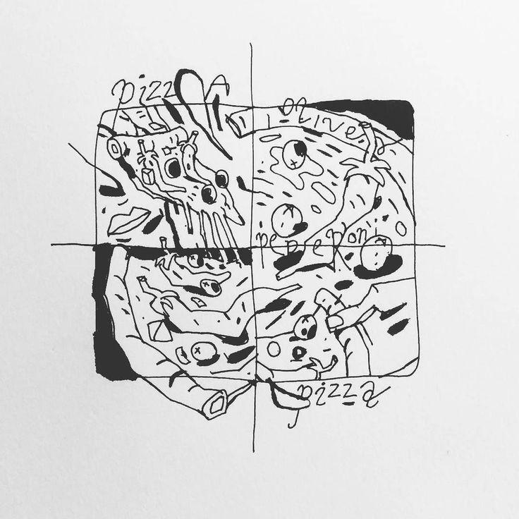Inktober No2 - Pizza #inktober #inktober2016 #inked #pizza  ___ #illustration #art #artist #instaart #dailyart #artoftheday #doodleartist #pen #pencil #drawing #drawings #sketch #scribble #picoftheday #sketchbook #doodle #kunst #dessin #dibujo #newartwork #instadaily