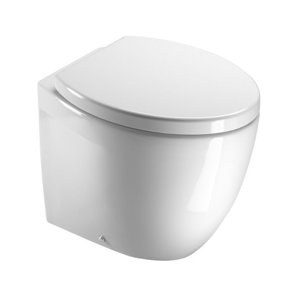 Saneux Poppy Back to Wall WC - Big. Poppy - a modern classic. Soft cube and oval interiors developed across a great range of ceramics and coordinating furniture. Poppy: meaning joyful. Was £402.00 Now £321.00