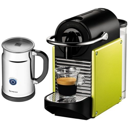 nespresso d60 pixie electric lime automatic espresso machine with aeroccino plus milk frother http - Nespresso Frother