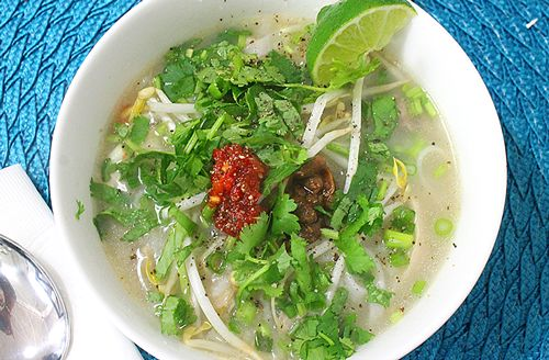 Chicken Rice Soup - A great cold remedy. A Cambodian staple when you are sick.