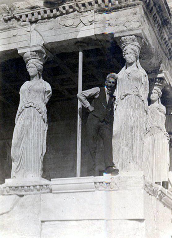 Ο Fred Boissonas στο Ερέχθειο, 1907
