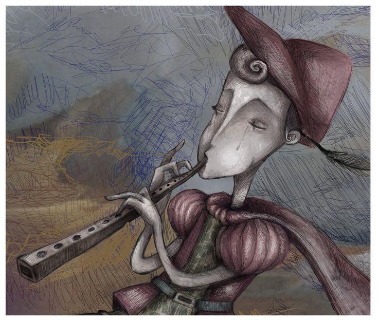 Flautista de Hamelín, un cuento o leyenda de los Hermanos Grimm sobre un flautista exterminador de ratas. Lea como él utiliza su música para eliminar una plaga.
