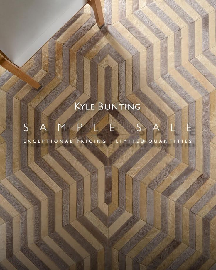 Fall Sample Sale Starts Monday, October 10th at 9am (cst). Go to www.kylebunting.com/quick-ship/rugs to to view our selection of Kyle Bunting Hide Rugs at an exceptional value! Call 512-264-1148 to place your order!