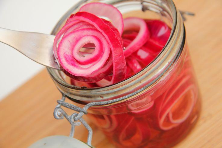 Savanyított lilahagyma recept