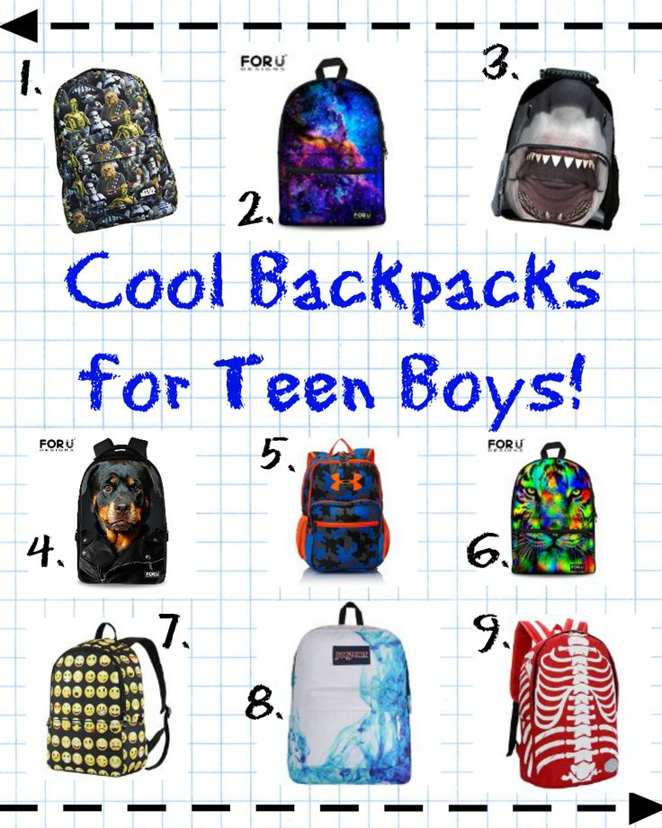 Back To School Swag: Cool Backpacks for Teen Boys ...