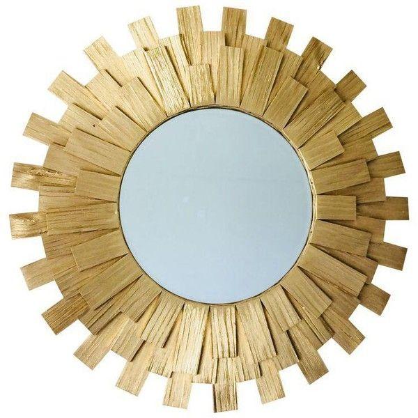 Sunburst Wall Mirror Handmade Golden Color Wooden 150 Liked