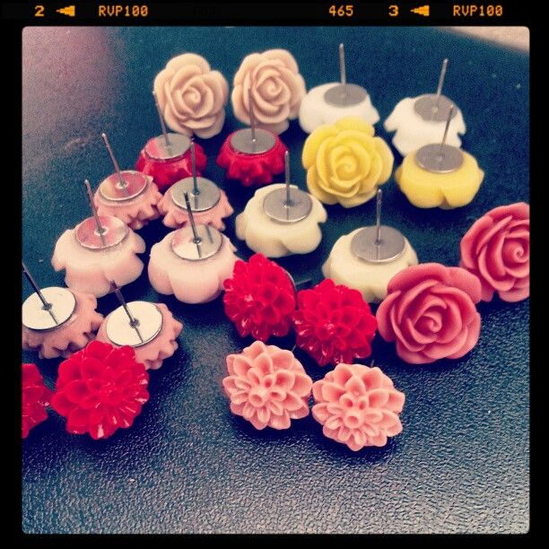 New handmade floral studs! Autumn/winter '13 range available now!